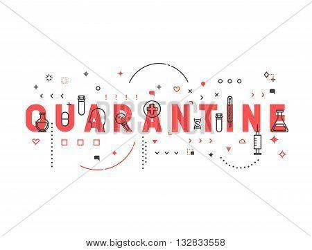 Medicine concept quarantine. Creative design elements for websites, mobile apps and printed materials. Medicine banner design