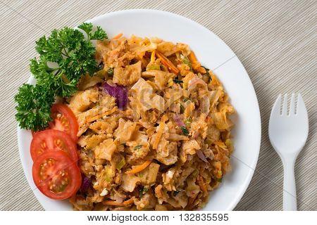 Sri Lankan spicy mixed vegetable kottu roti