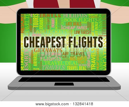 Cheapest Flights Shows Reduction Discounted And Flying