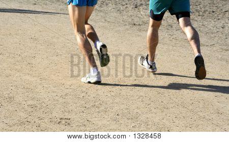 Running Feet On The Road