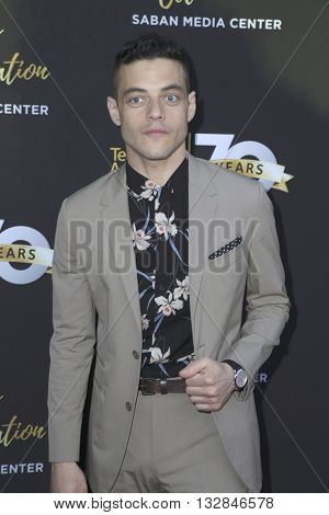 LOS ANGELES - JUN 2:  Rami Malek at the Television Academy 70th Anniversary Gala at the Saban Theater on June 2, 2016 in North Hollywood, CA