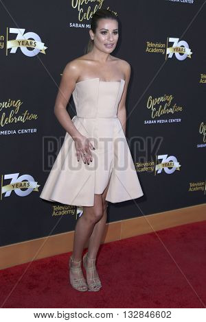 LOS ANGELES - JUN 2:  Lea Michele at the Television Academy 70th Anniversary Gala at the Saban Theater on June 2, 2016 in North Hollywood, CA