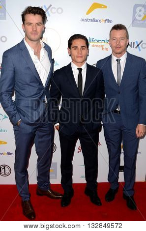 LOS ANGELES - JUN 1:  Christian Antidormi, Tom Cocquerelle, Todd Lasance at the 2016 Australians In Film Heath Ledger Scholarship Dinner at the Mr. C on June 1, 2016 in Beverly Hills, CA