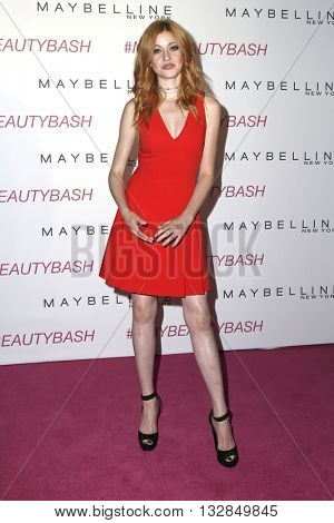 LOS ANGELES - JUN 3:  Katherine McNamara at the Maybelline New York Beauty Bash at the The Line Hotel on June 3, 2016 in Los Angeles, CA