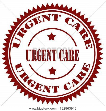 Stamp with text Urgent Care, vector illustration