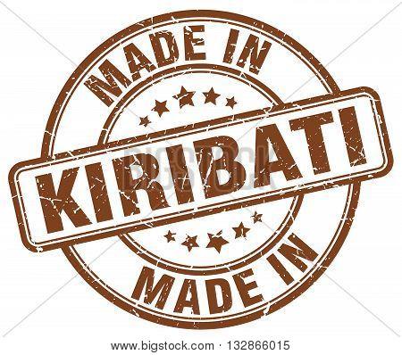 Made In Kiribati Brown Round Vintage Stamp.kiribati Stamp.kiribati Seal.kiribati Tag.kiribati.kiriba