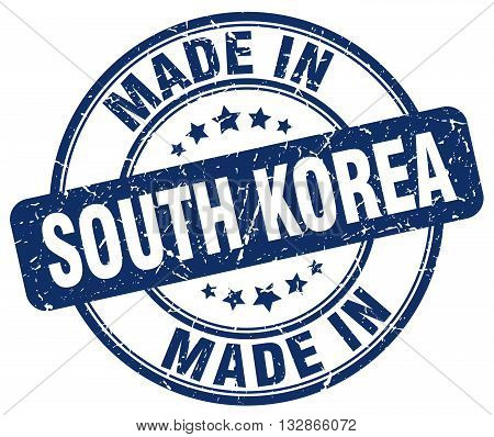 Made In South Korea Blue Round Vintage Stamp.south Korea Stamp.south Korea Seal.south Korea Tag.sout