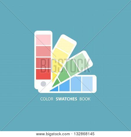 Color swatches book. Color palette guide. Flat vector illustration.