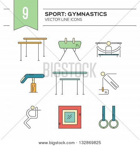 Set Of Gymnastics Icons