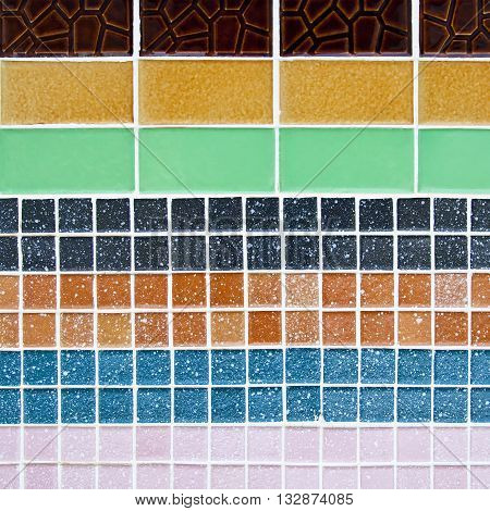 Colorful of mosaic abstract used for background