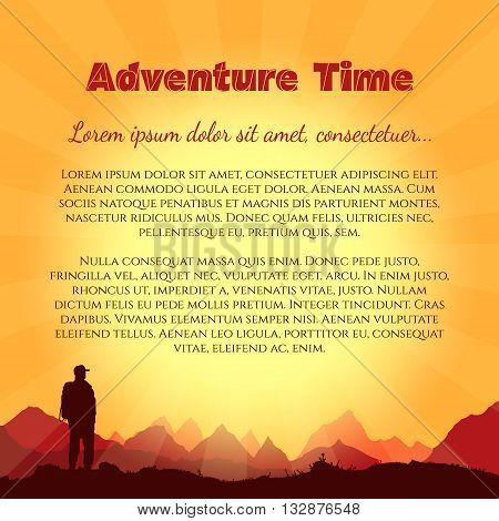 Travel and adventure world tour vector set