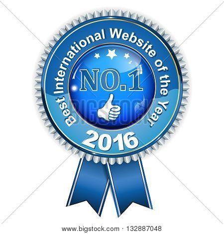 Best international website of the year 2016 - award blue ribbon