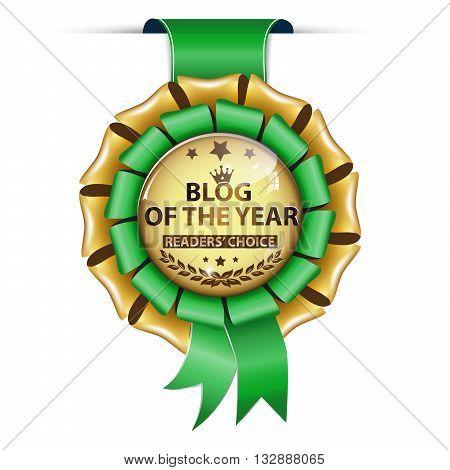 Blog of the year. Readers' choice - golden green ribbon award.