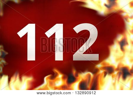 emergency call 112 background graphic illustration design image