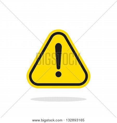 Warning sign, Yellow warning sign, Warning sign Icon, Warning sign on white, Warning sign vector, Warning sign illustration. Triangle warning sign