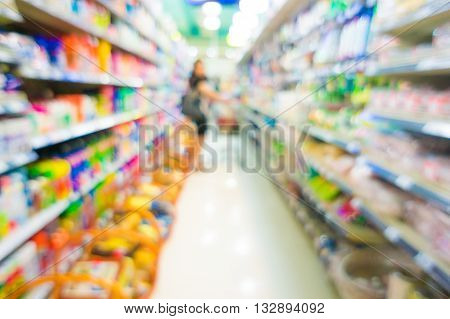 Blurred Color .supermarket Store Blur Background