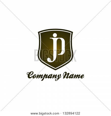 JP letter logo for business company with bold and elegant style