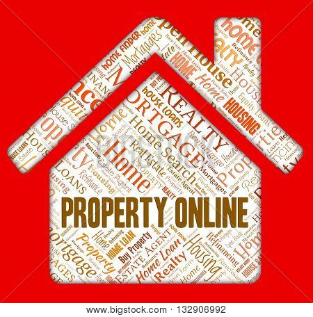 Property Online Indicates Web Site And Apartments