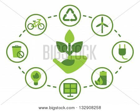 Set Of Environmenta Icons