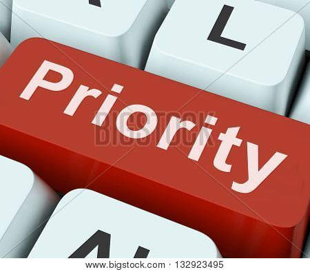 Priority Key On Keyboard Meaning Preference Greater Importance Or Primacy poster