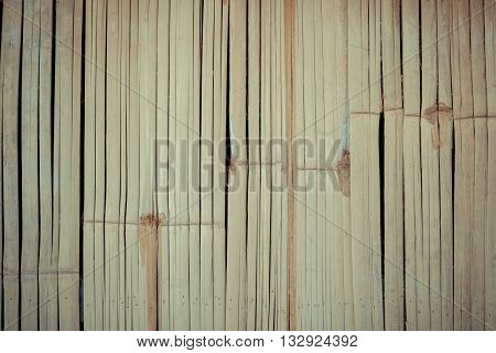 Photo of a Bamboo wooden texture background