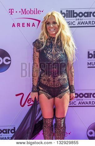 LAS VEGAS - MAY 22 : Singer Britney Spears attends the 2016 Billboard Music Awards at T-Mobile Arena on May 22 2016 in Las Vegas Nevada.