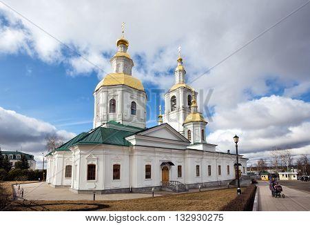 Diveevo, Russia - March 20, 2015: Church of the Nativity of Holy Trinity-Saint Seraphim-Diveyevo Monastery. Nizhny Novgorod Region. Russia