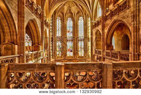 Bourg en Bresse France - april 4 2015 : the royal monastery of Brou