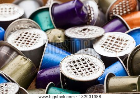 Dumped plastic and metal espresso coffee pods an environmental issue