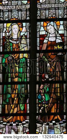 Stained Glass - Saints Barbara And Elisabeth