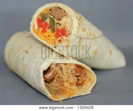 Chicken And Vegetable Wraps