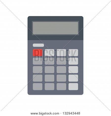 Calculator icon Calculator flat illustration. Vector electronic calculator.