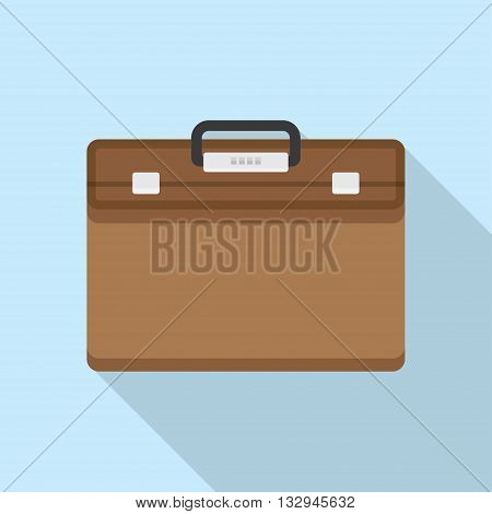 Briefcase vector illustration. Briefcase business. Briefcase in flat style. Briefcase icon.