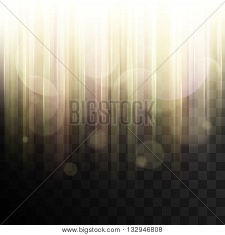 Rays of light abstract vector. Shiny sunbeams with transparency. Yellow light effect. Vector effect. Abstract background with transparency. Glowing light. Bright light.