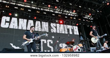 NEW YORK-JUN 26: Country musician Canaan Smith performs onstage at the 2015 FarmBorough Festival - Day 1 at Randall's Island on June 26, 2015 in New York City.