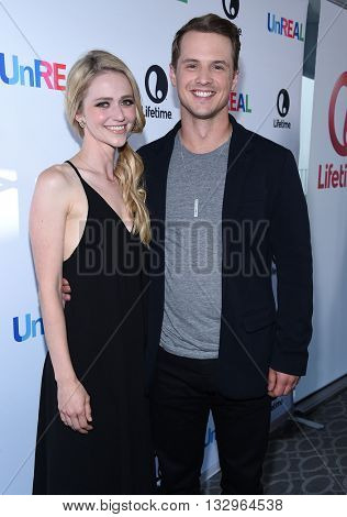 LOS ANGELES - JUN 04:  Freddie Stroma & Johanna Braddy arrives to the 'UnReal' FYC ATAS Event  on June 04, 2016 in Hollywood, CA.