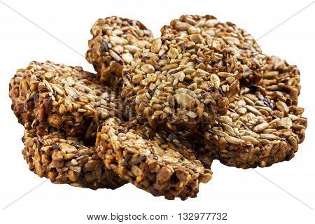 the sweet brittle on a white background