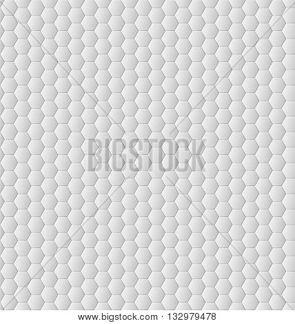 Vector seamless hexagons pattern, mosaic background, abstract white geometric pattern