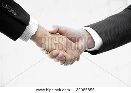 Handshake of businessmen - greeting dealing partnership merger & acquisition concepts
