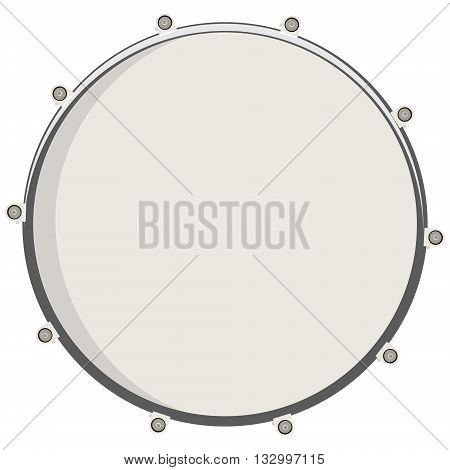Vector illustration drum top view. Drum snare icon symbol or logo