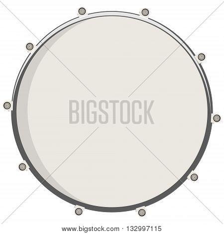 Vector illustration drum top view. Drum snare icon symbol or logo