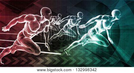 Performance Management and Job Coaching Concept Art 3D Illustration Render