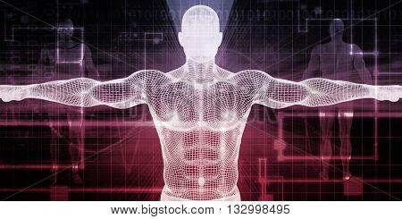 Electronic Medicine or E-Medicine Medicare for Technology 3D Illustration Render