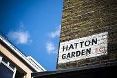 Hatton Garden jewellery quarter in central London poster