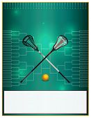 A lacrosse template with lacrosse sticks and ball over a bracket. Room for copy. Vector EPS 10 available. poster