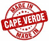 made in Cape Verde red round vintage stamp.Cape Verde stamp.Cape Verde seal.Cape Verde tag.Cape Verde.Cape Verde sign.Cape.Verde.Cape Verde label.stamp.made.in.made in. poster