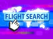 Flight Search Showing Inquiry Searches And Aircraft poster