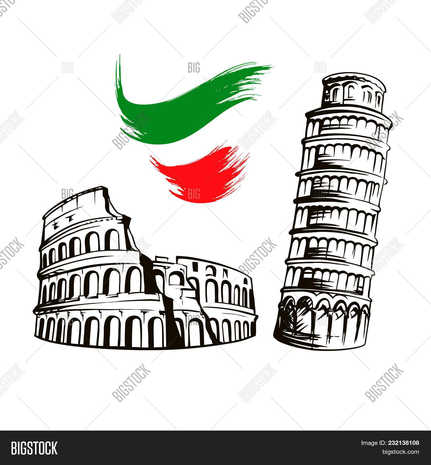 Italy Culture Symbols Vector Photo Free Trial Bigstock