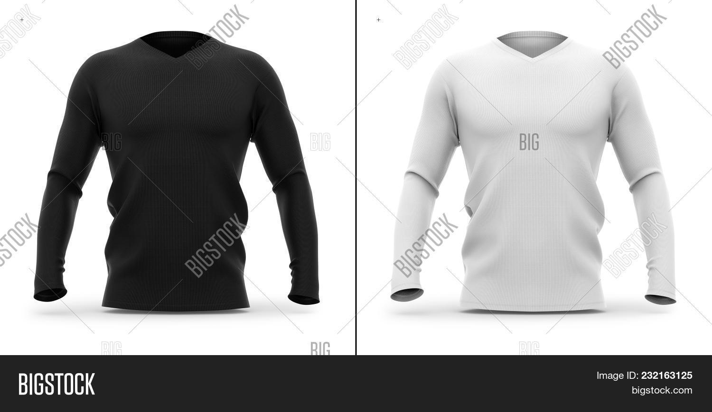 Mens V Neck T Shirt Image Photo Free Trial Bigstock