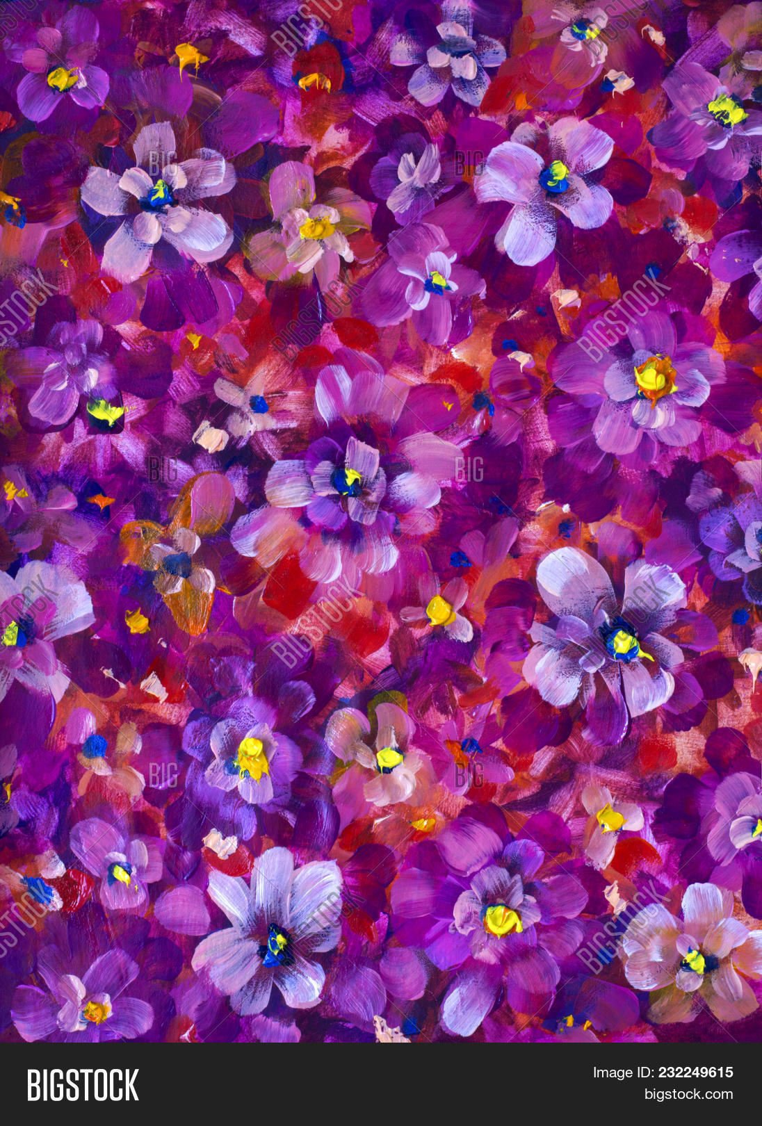 Red Violet Flowers Image Photo Free Trial Bigstock